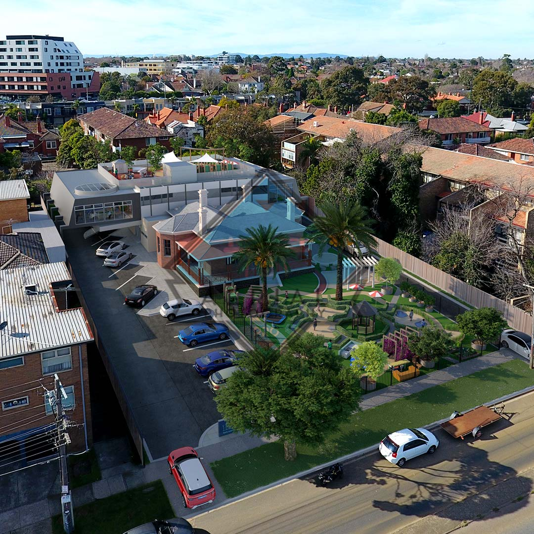 property development with drone photography